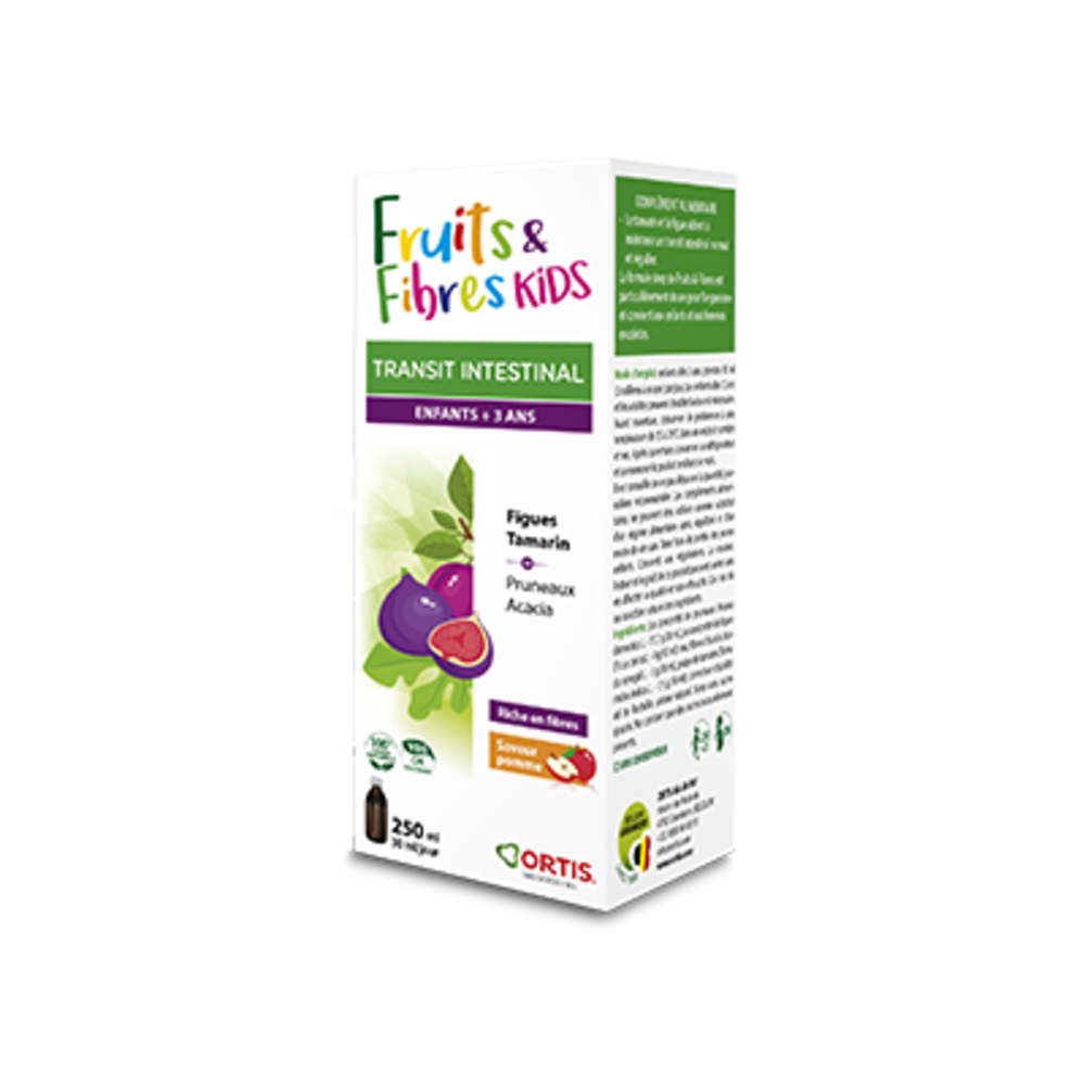 Ortis fruits & fibres kids transit intestinal 250ml - ortis -225332