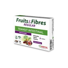 Ortis fruits & fibres regular transit intestinal programme 24 cubes - ortis -225335