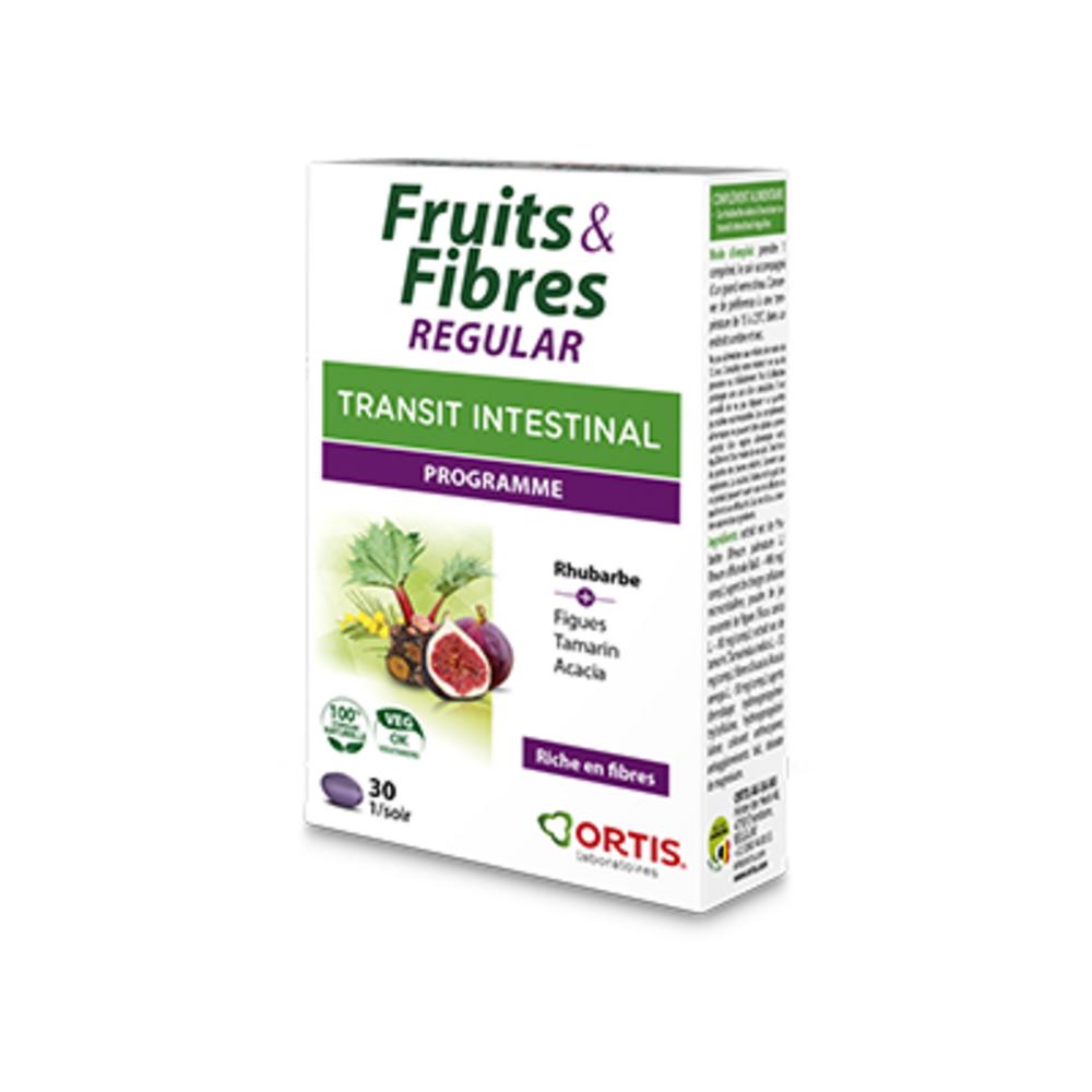 Ortis fruits & fibres regular transit intestinal programme 30 comprimés - ortis -225337