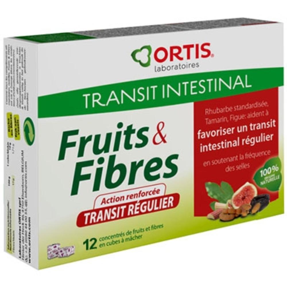 Ortis fruits & fibres transit régulier - 12 cubes - ortis -199313