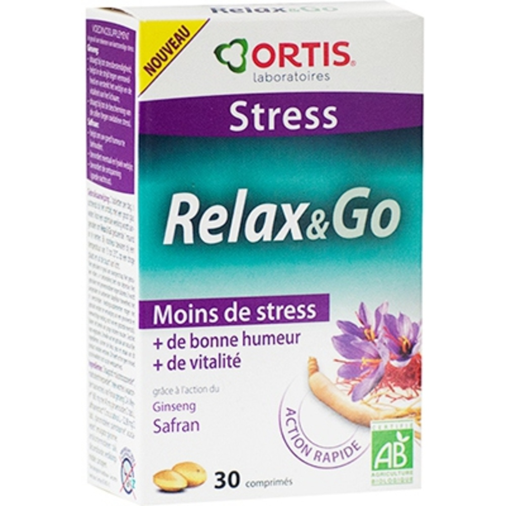 Ortis stress relax & go 30 comprimés - ortis -206308