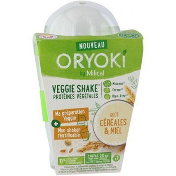 Oryoki veggie shake céréales et miel 1 repas Milical-221357