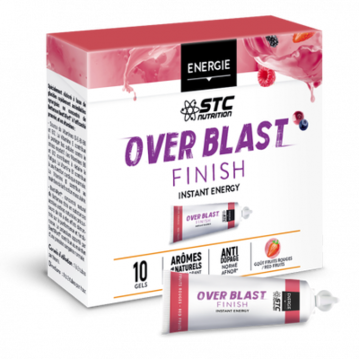 Over blast finish fruits rouges 10 gels Stc nutrition-205064