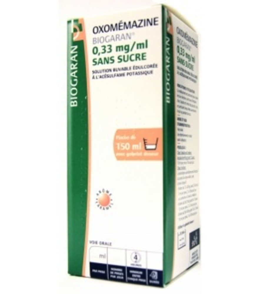 Oxomemazine 0,33mg/ml sirop Biogaran-194151