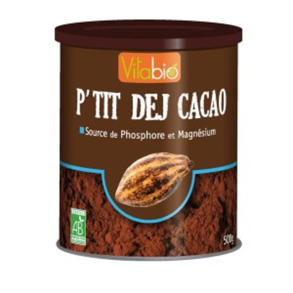 P'tit dej cacao - 500.0 g - petit déjeuner - vitabio Source de phosphore et de magnésium-127058