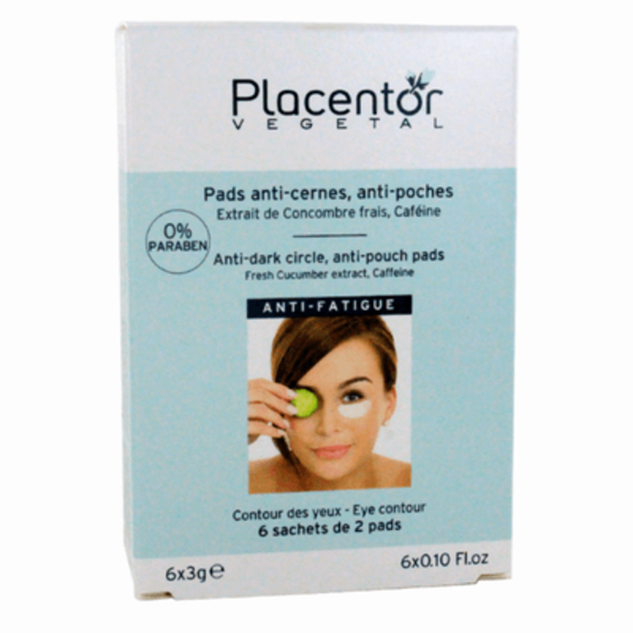 Pads yeux anti-cernes anti-poches x12 Placentor vegetal-205843