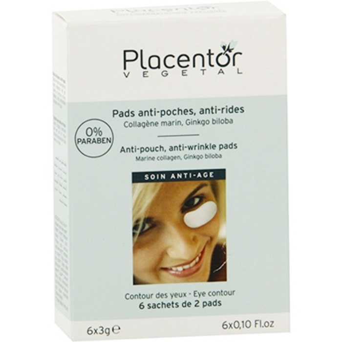 Pads yeux anti-poches anti-rides x12 Placentor vegetal-205844