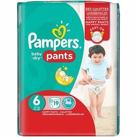 Pampers baby-dry pants +16kg taille 6 - 19 couches-culottes - pampers -214830