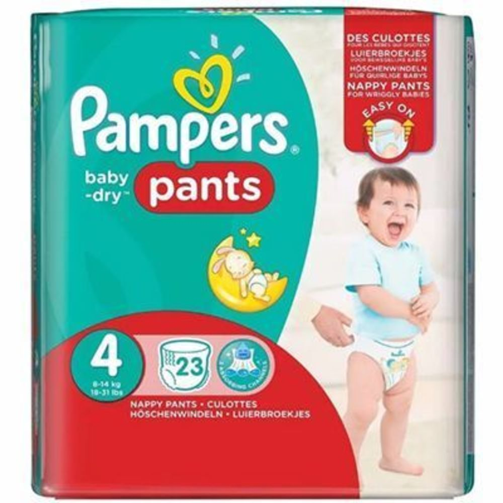 Pampers baby dry pants 8-14kg taille 4 - 23 couches-culottes - pampers -213327