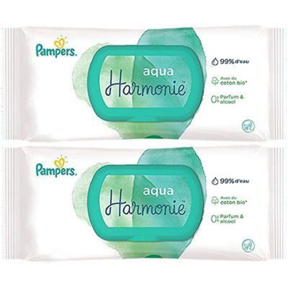 Pampers lingettes aqua harmonie 2x48 lingettes Pampers-222740