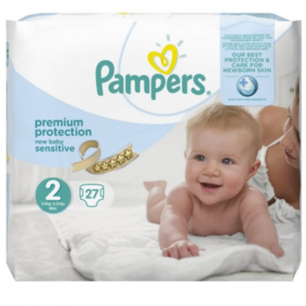 Pampers new baby sensitive 3 6kg taille 2 27 couches pampers achat au meilleur prix - Couches pampers new baby taille 3 ...