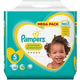 Pampers premium protection 11-16kg taille 5 - 68 couches - pampers -223523