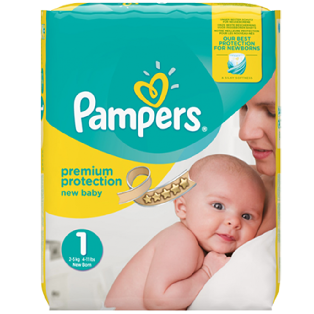 Pampers premium protection 2-5kg taille 1 - pampers -214257