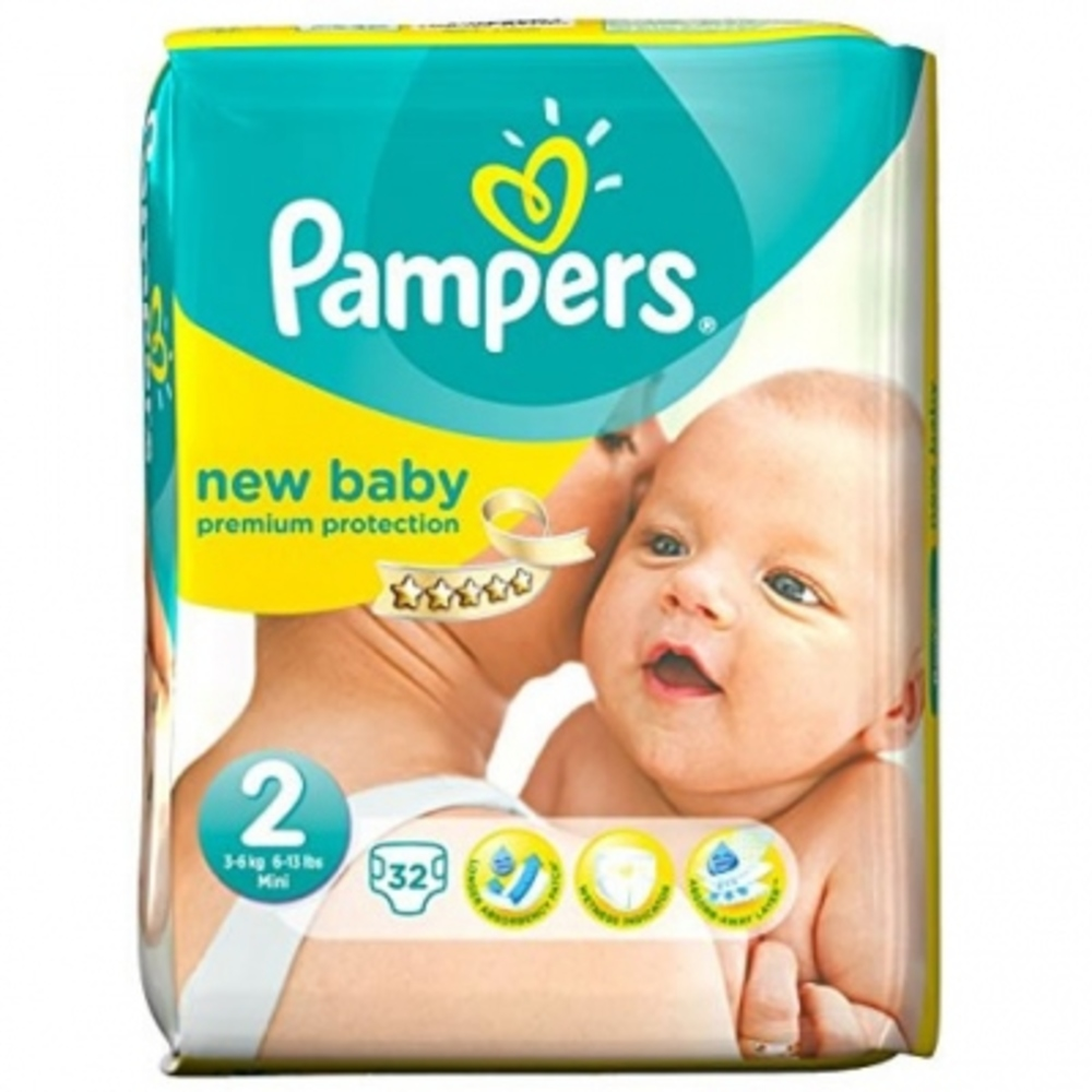 Pampers premium protection 3-6kg taille 2 - 31 couches - pampers -146462