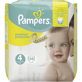 Pampers premium protection 8-16kg taille 4 - 24 couches - pampers -216348