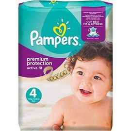 Pampers premium protection active fit 8-16kg taille 4 - 90.0 u - pampers -210590