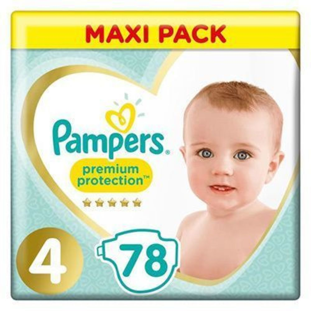 Pampers premium protection taille 4 maxi pack 78 couches - pampers -226448