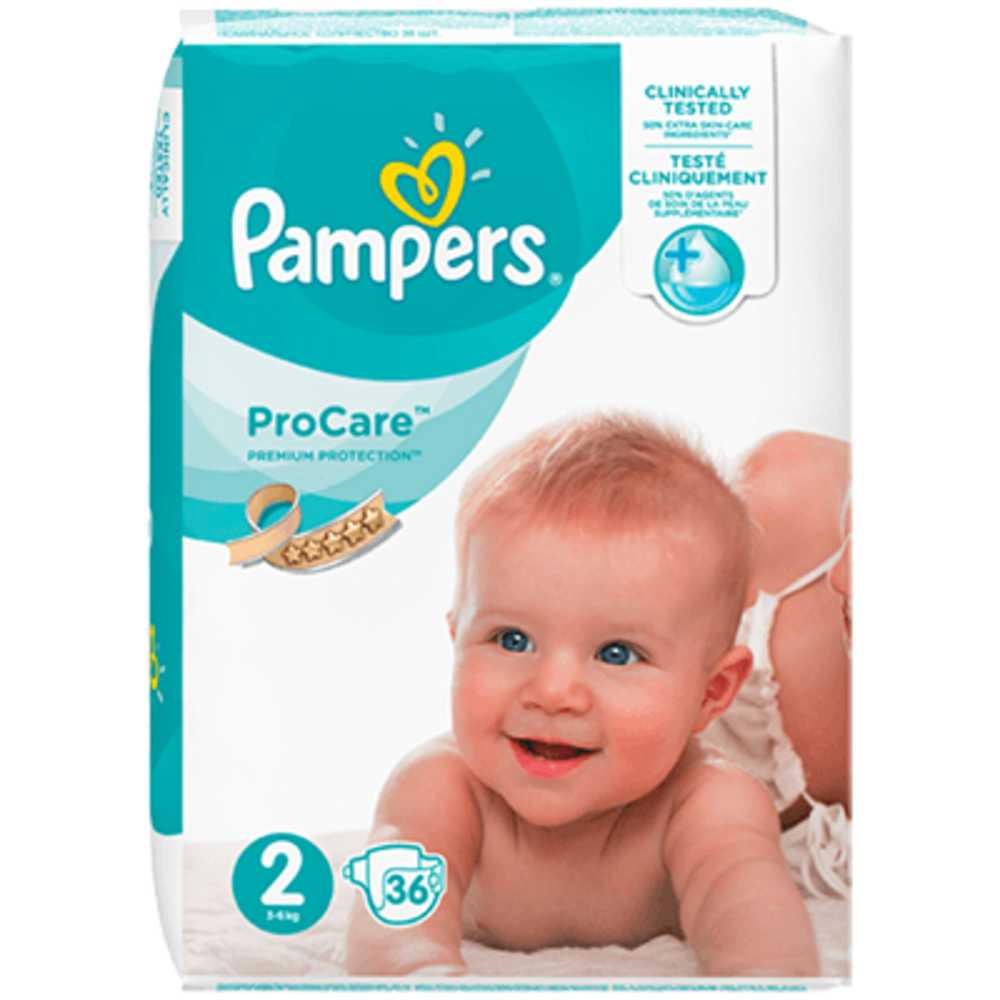 Pampers procare premium protection 3-6kg taille 2 - 36 couches - pampers -216064
