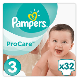 Pampers procare premium protection 5-9kg taille 3 - 32 couches - pampers -216063