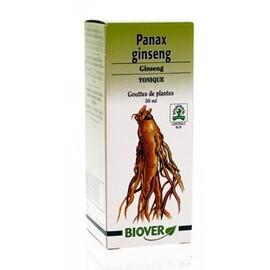 Panax ginseng (ginseng vrai) bio - 50.0 ml - gouttes de plantes - teintures mères - biover Améliore la force vitale, tonifie et revitalise-8984