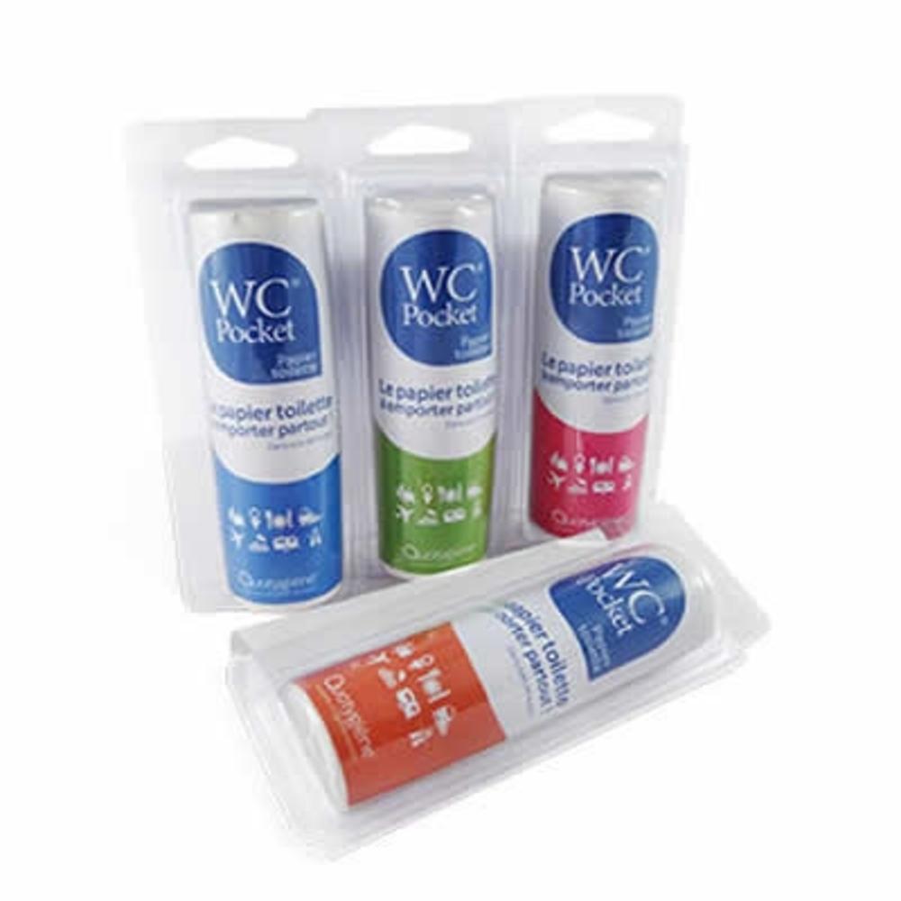 Papier toilette bleu - 30 utilisations Wc pocket-205635