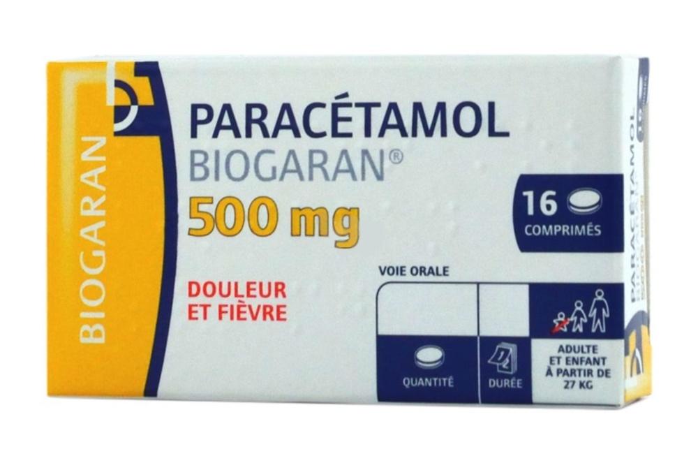 Paracetamol 500mg - 16 comprimés Biogaran-192158