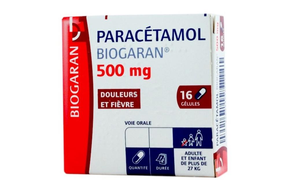 Paracetamol 500mg - 16 gélules - biogaran -192177