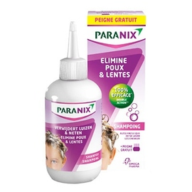 Paranix traitement anti-poux et lente shampooing 200ml + peigne - 200.0 ml - omega pharma -124585