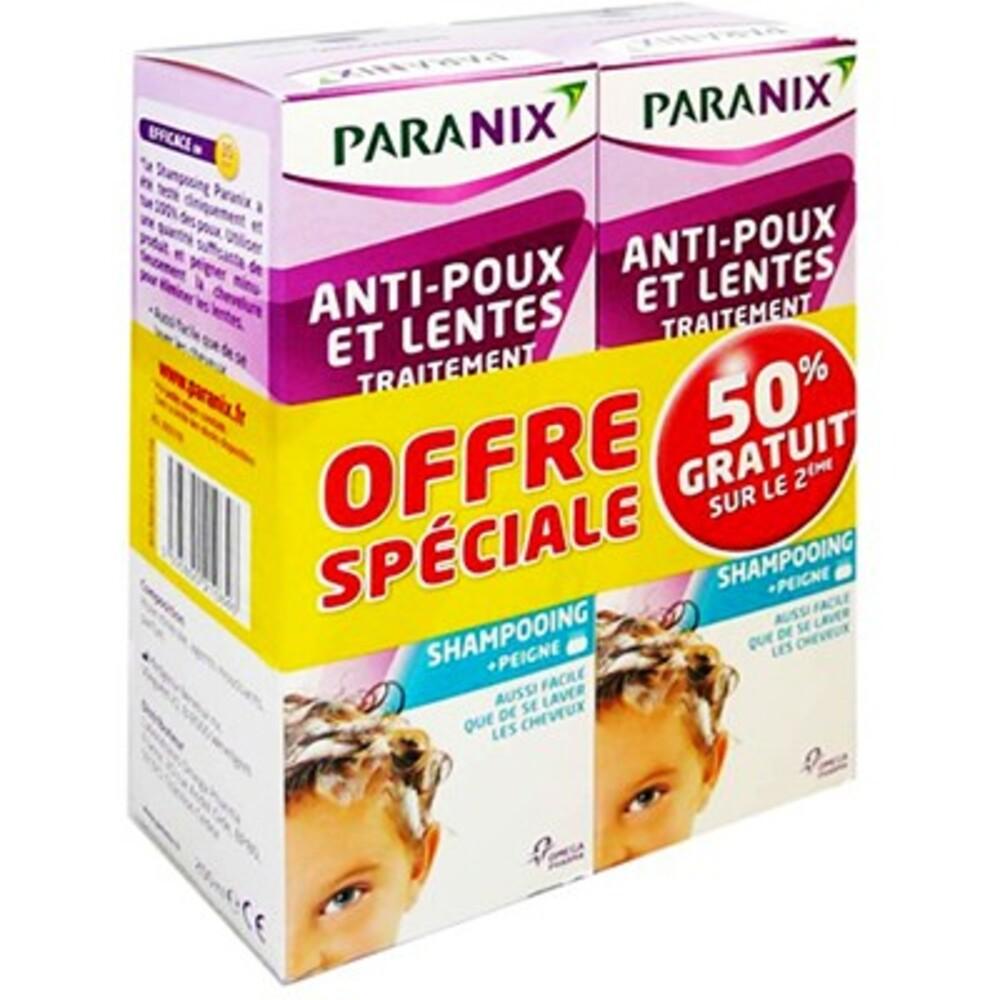 Paranix traitement anti-poux et lente shampooing 2x200ml - paranix -214102