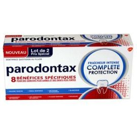 Parodontax dentifrice fraîcheur intense complète protection 2x75ml - parodontax -222401