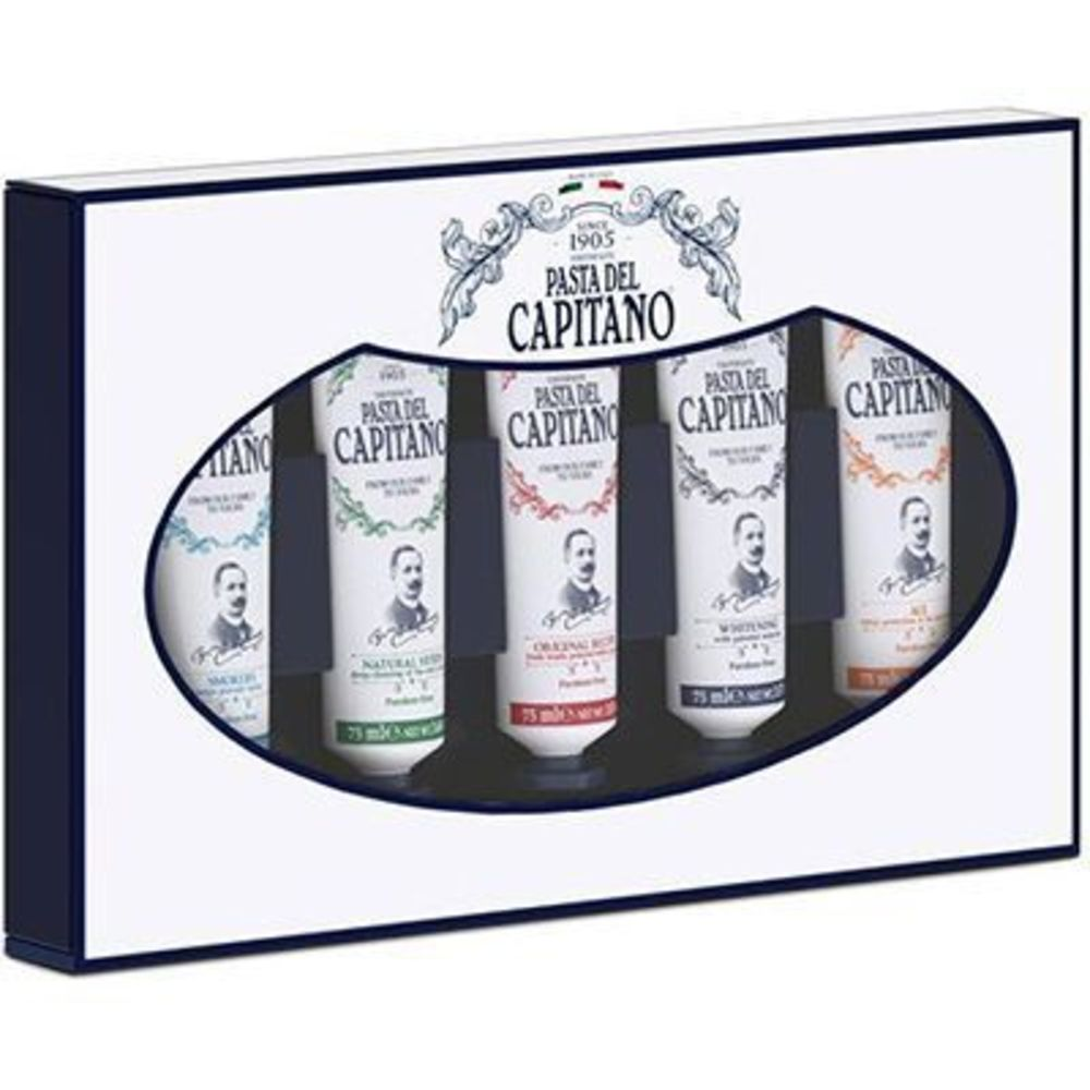 Pasta del capitano coffret 5 dentifrices 5 x 75ml - pasta-del-capitano -222714