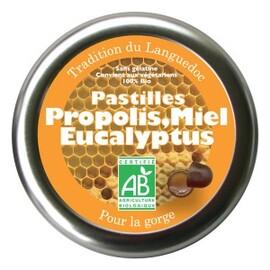 Pastilles à la propolis, miel et eucalyptus bio  - boîte de... - divers - florisens -135782