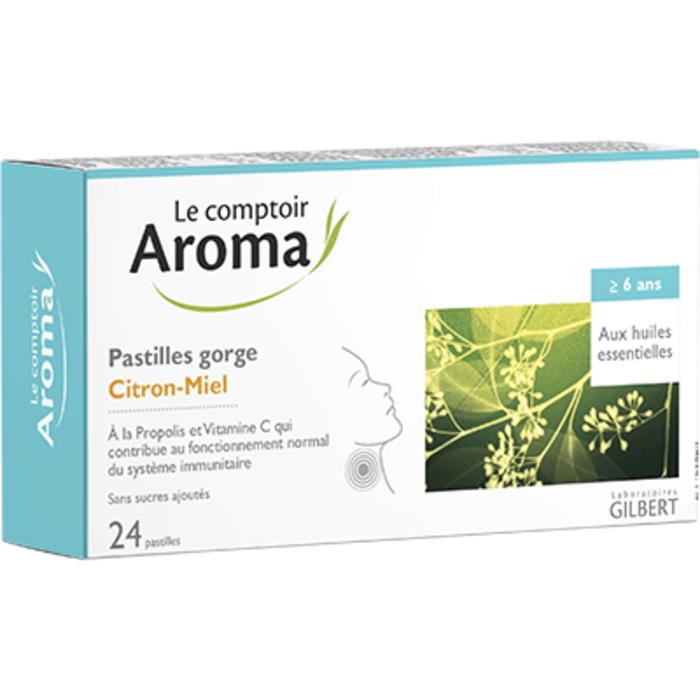Pastilles gorge citron-miel 24 pastilles Le comptoir aroma-225580