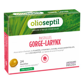 Pastilles gorge-larynx miel eucalyptus - olioseptil -136443