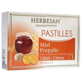 Pastilles miel propolis - 24.0 unites - vitalité - herbesan -139217