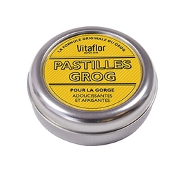 Pastilles pour la gorge formule grog - vitaflor -203496