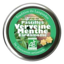 Pastilles verveine, menthe, cardamome bio -  45 g - divers - encens du monde - florisens -189108