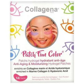 Patch fun color 14 patchs hydrogel hydratant anti-âge - collagena -216868