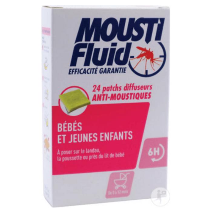 Patchs diffuseurs anti-moustiques bébés & jeunes enfants x24 Moustifluid-145780