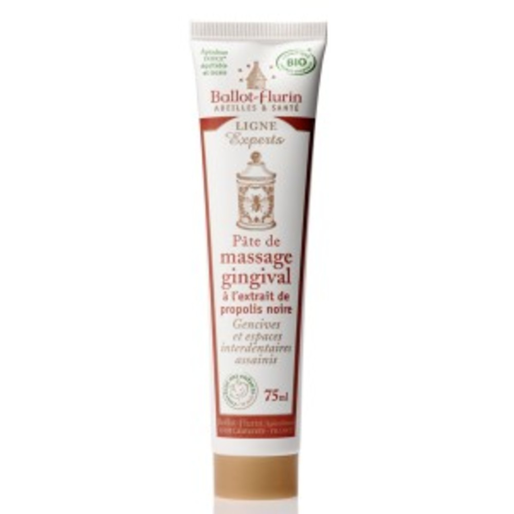 Pâte de massage gingivale bio - 75.0 ml - apithérapie - ballot flurin Gencives gonflées et saignements-11555