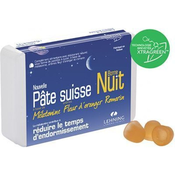 Pâte suisse bonne nuit 40 pastilles Lehning-220593