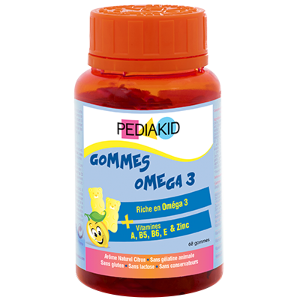 Pediakid gommes oméga 3 - 60 oursons - pediakid -205884