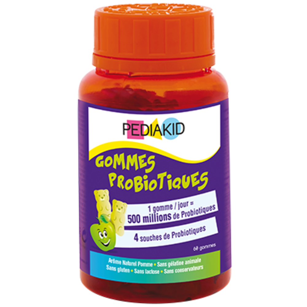 Pediakid gommes probiotiques - 60 oursons - pediakid -205885