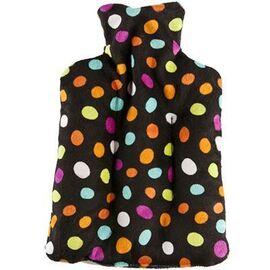 Pelucho bouteille bouillotte noir pois multicolores - pelucho -223288