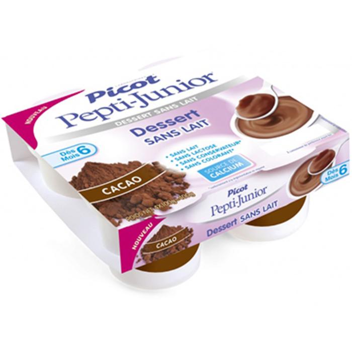 Pepti-junior dessert sans lait +6mois cacao 4x100g Picot-216699