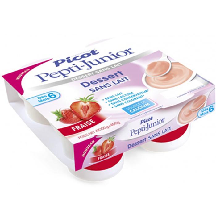 Pepti-junior dessert sans lait +6mois fraise 4x100g Picot-216700