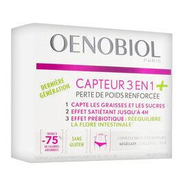Perte de poids capteur 3 en 1 + 60 gélules - oenobiol -220948