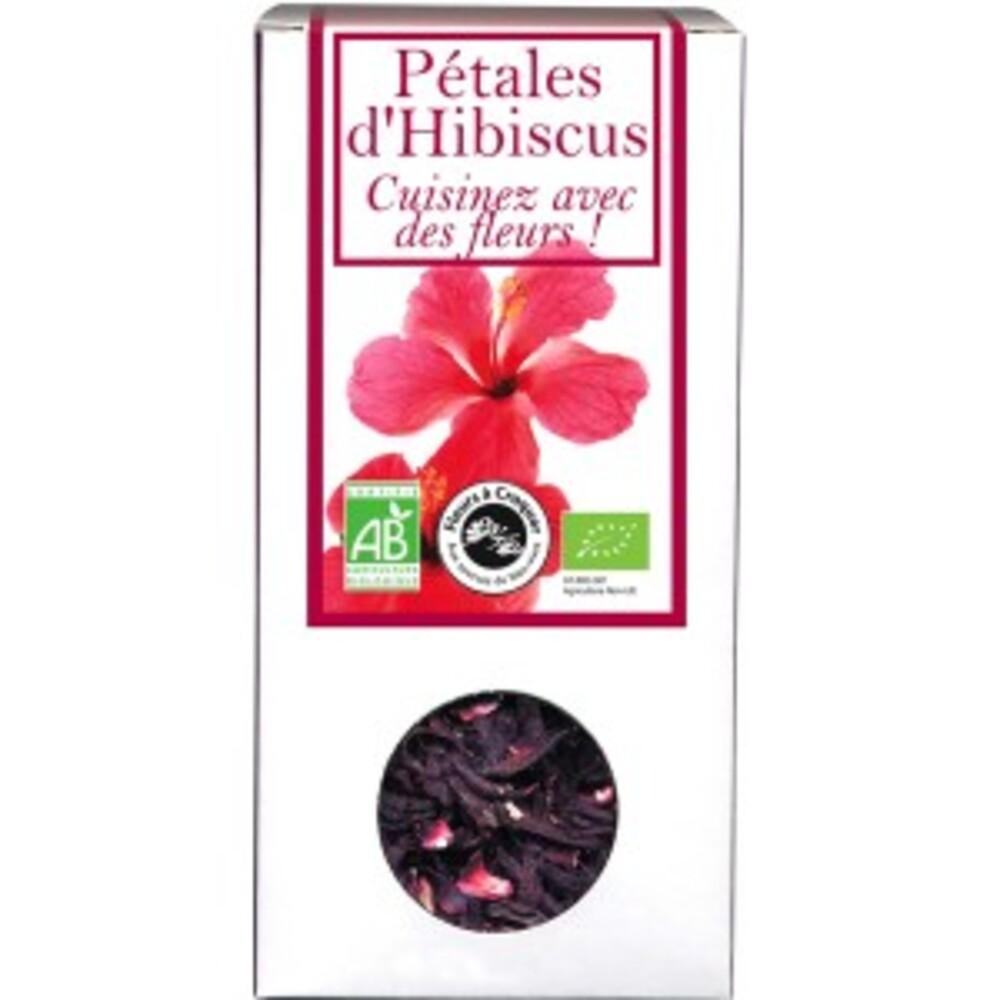 Pétales d'hibiscus bio - boîte de 80 g - divers - florisens -135786