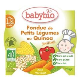 Petits légumes au quinoa bio - dès 12 mois - 230 g - divers - babybio -133646