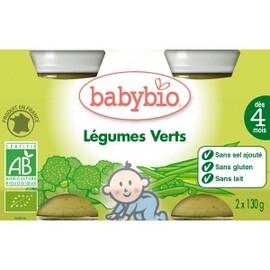 Petits pots légumes verts bio - dès 4 mois - 2x130g - divers - babybio -133641